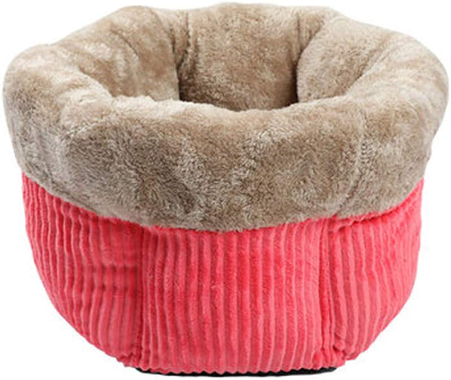 Cuddle Cup, Cozy, Comfortable Cat and Dog House Bed, HighWalls for Improved Sleep