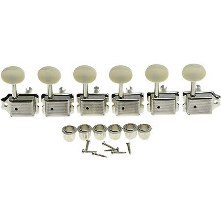 Kluson SD9105MNP 6 In-Line Vintage Tuning Machines Nickel//Plastic
