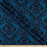 Fabric Merchants Deadstock Damaststoff, barock, beflockt,