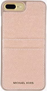 Michael Kors Saffiano Leather Case With Pockets for iPhone 7 Plus and 8 Plus 5.5 inch - Pink