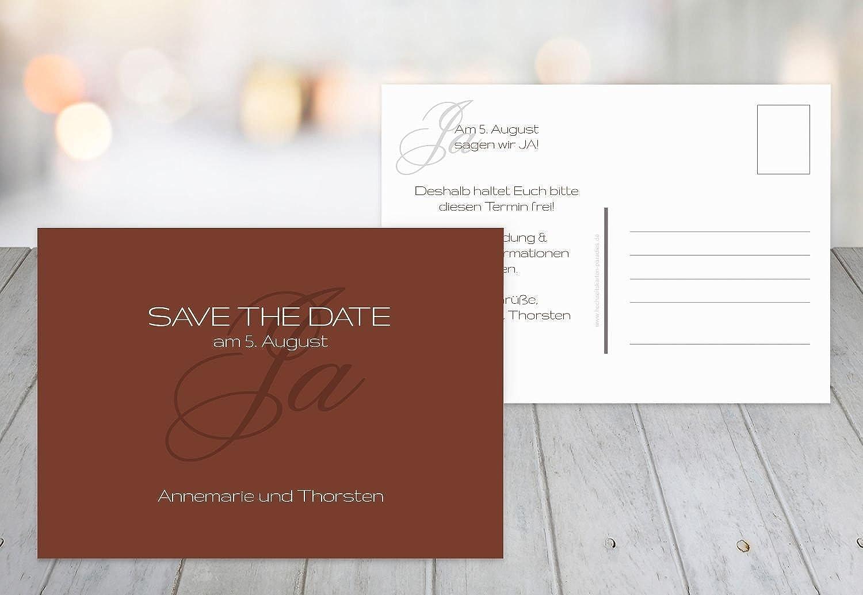 Kartenparadies Hochzeitskarte Save-the-Date Sagja, hochwertige Save the Date Date Date Karte zur Hochzeit   80 Karten - (Format  148x105 mm) Farbe  RotBraunDunkel B01NCXP6AZ  | Der neueste Stil  73e1c9