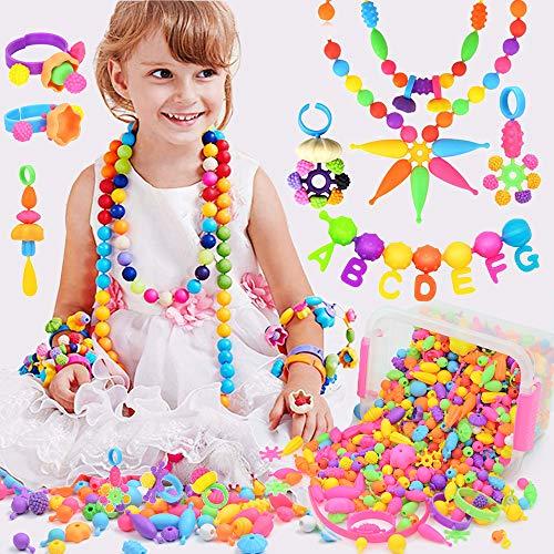 BLAZOR Cuentas Para Pulseras, Manualidades Niños Beads for Jewelry Making, Kit Para Hacer Pulseras y Collares, Cumpleaños de Niñas de 3 4 5 6 7 8 9 Años, Fiestas, Regalos de Navidad