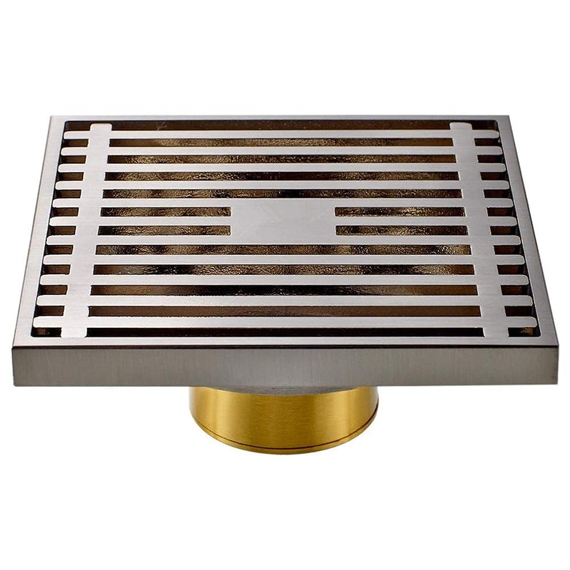 親指ブルーベル地味な床排水銅階浴室キッチン(シルバー)のための大きな変位バスルームデオドラント床ドレン工場ドレイン 浴槽の詰まり防止 (色 : 銀, サイズ : 10 x 10 x 2.5 cm)