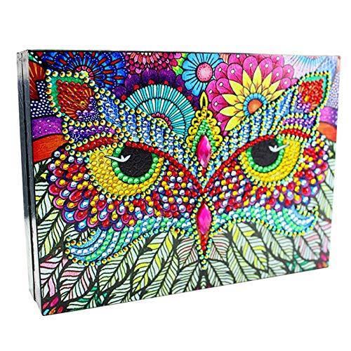 CALIDAKA Jewelry Box DIY 5D Diamond Painting Jewelry Organiser PU Leather Desktop Home Gift for Women Girls Earrings Rings Handmade Gift