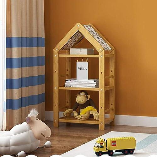Bücherregale Natürlich Bambus Kind Kinder Lager Spielzeug Buch Gestell 3 Größe Hütte Stil CJC (Größe   51  31  101CM)
