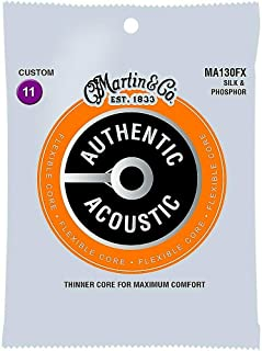 Martin Authentic Acoustic FX Guitar Strings, Custom .011-.047 (MA130FX)