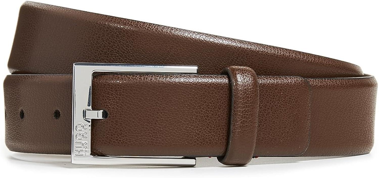 HUGO Men's Gellot Belt in Grainy Embossed Leather