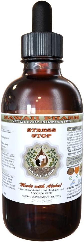 Brand new HawaiiPharm Stress Stop Veterinary Liquid Natural Max 69% OFF Alcohol-Free