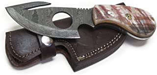 Wild Turkey Handmade Damascus Steel Color Bone Handle...