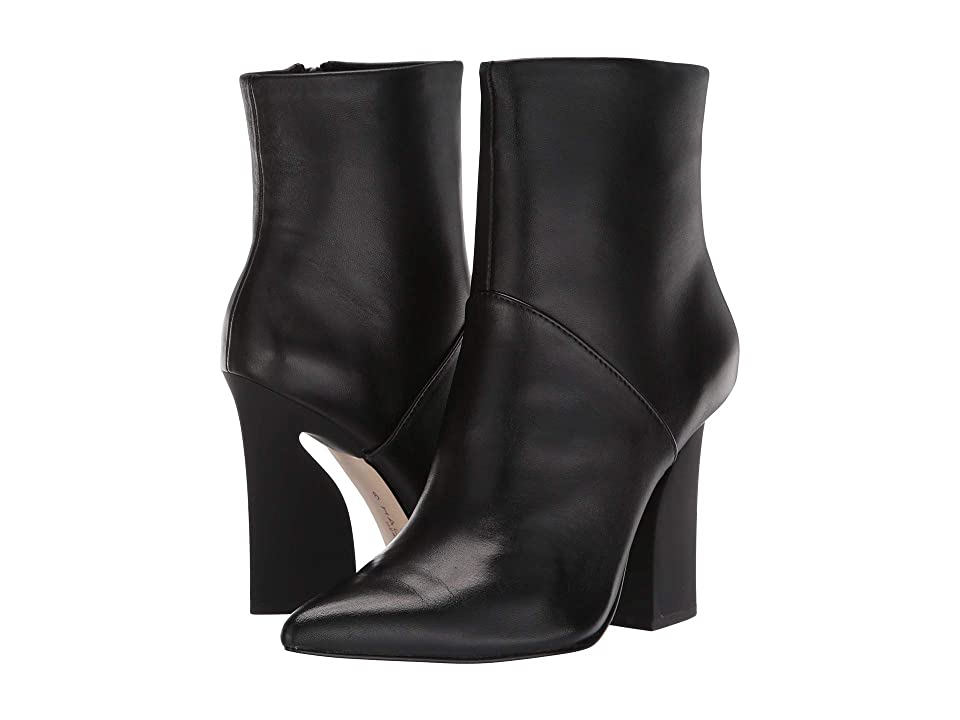 Halston Heritage Quin Bootie (Black Leather) Women
