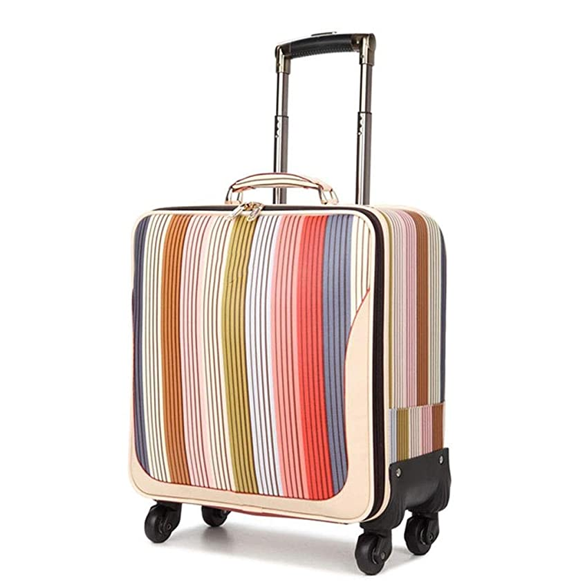 汚物芸術的指標Kylinllx トラベルバッグトロリーケースミニスーツケースユニバーサルホイールトラベルスーツケースソフトラゲージスーツケース (サイズ さいず : 24)