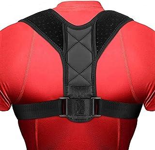 Monico Posture Corrector for Women and Men - Upgraded Lengthened Soft Sponge Pad Adjustable Upper Back Brace for Clavicle ...
