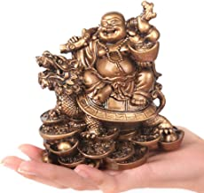 Statue Ornaments Laughing Buddha Statue for Home Decor Modern Resin Buddha Figurine Sculpture for Office Desk Good Luck We...