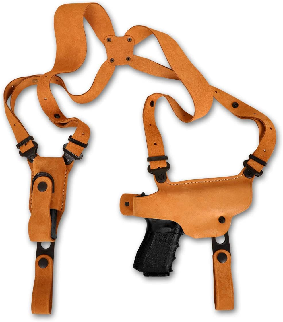 MASC Minneapolis Ranking TOP20 Mall Premium Suede Leather Shoulder Single Holster Magazine with
