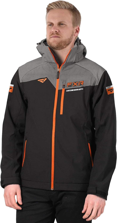 FXR Men's Renegade Softshell Jacket 2021 (Black/Orange - Medium)
