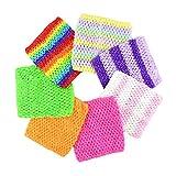 "BERON Pack of 7 6"" Handmade Baby Girl Silk Crochet Tutu Tube Top Chest Wrap for Toddler Infants(AID27-C)"