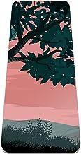 TPE Yoga Mat Antislip Geweven Oppervlakken (0,6 cm/0,8 cm) Dikke Hoge dichtheid vulling om pijnlijke knieën te voorkomen, ...