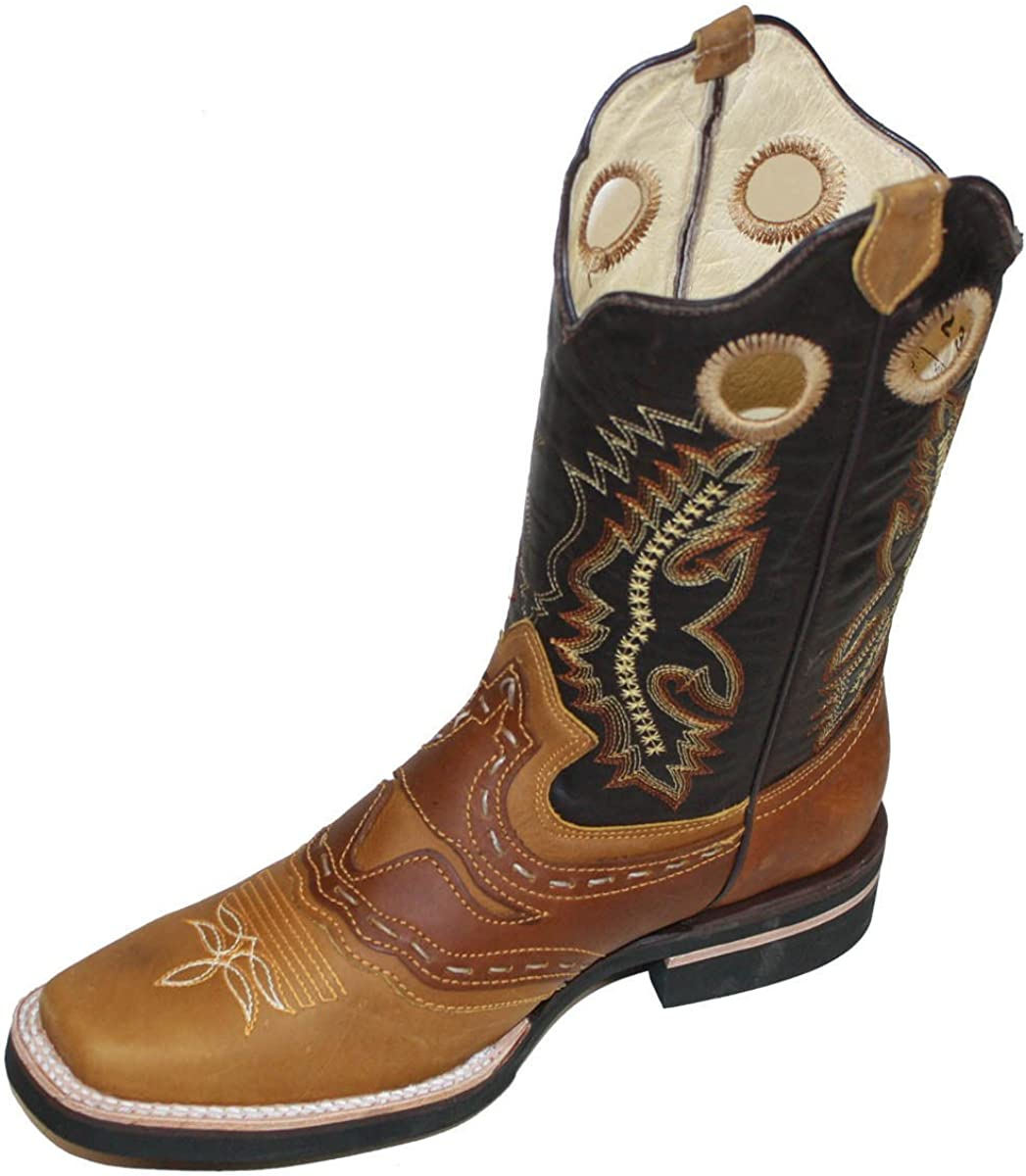 Mens Smooth Leather Black Western Wear Rodeo Country Cowboy Boots J Toe