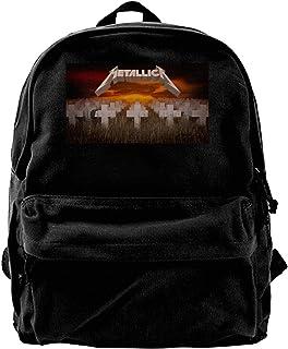 Mochila de lona Metallica-Master Of Puppets MusicSexy Mochila de gimnasio, senderismo, portátil, bolsa de hombro para homb...