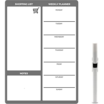 TTMOW Pizarra Blanca Magnética Calendario Tablero de Nevera con 4 Colores Pluma para Pizarra, Pizarra de Planificación Ideal para Planificar Estudios, Exámenes, Tareas (Semana): Amazon.es: Hogar
