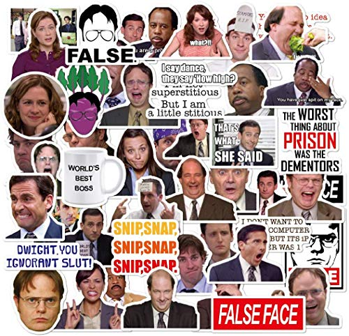 Find Cheap The Office Stickers Pack of 50 Stickers - The Office Stickers for Laptops, The Office Lap...