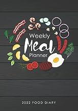 2022 Food Diary , Weekly Meal Planner: 2022 Weekly Menu Planner, Grocery List and 2022 Monthly Calendar
