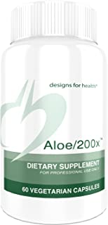 Designs for Health Aloe/200x - 200mg Organically Grown Aloe Vera Concentrate (60 Capsules)