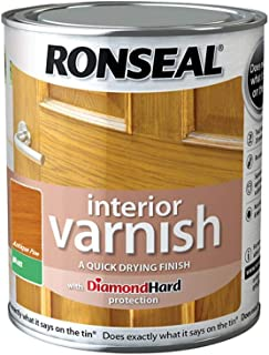 Ronseal Interior Varnish Quick Dry Matt Antique Pine 750ml