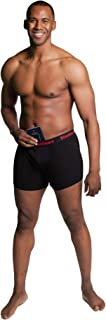 Mens Hide Your Stash Pocket Boxer Briefs with Secret Hidden Pocket.