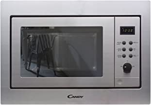 Candy MIC211EX - Microondas integrable con grill, Capacidad 21L, Plato giratorio 24,5cm, Display digital, Potencia 800W-1000W, 8 Programas, Acero inoxidable antihuellas