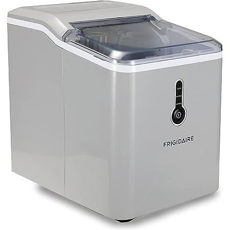 Frigidaire EFIC206-Silver Compact Ice Maker, 26 lb per Day, Silver
