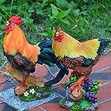 Estatua Gallo Decoracion Cocina Figura, Pollo Par Escultura Moderna Decoracion para Casa, Jardín, como Regalos para Los Agricultores De Granja Animal,A