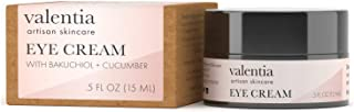 Valentia Eye Cream 0.5 Ouncew/Bakuchiol and Cucumber