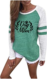 Women Long Sleeve Blouse,MOHOLL Best Mom Ever Casual Fall Tops Graphic Round Neck Tunic Tee Shirt Sweaters