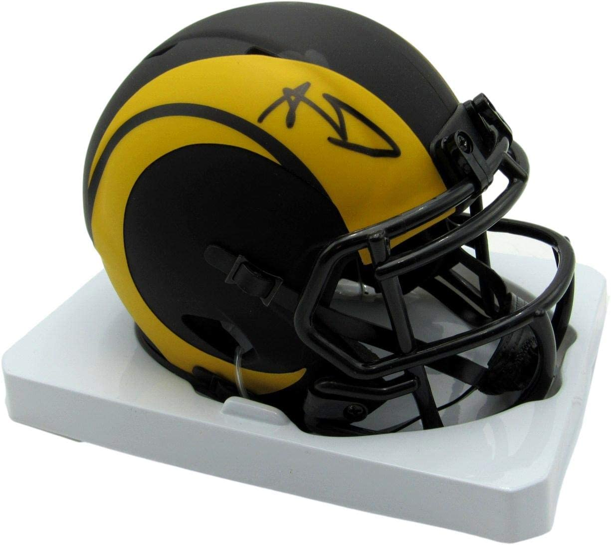 Aaron Donald Signed Autographed LA Rams 2021 spring and Max 47% OFF summer new Helmet Eclipse JSA Mini