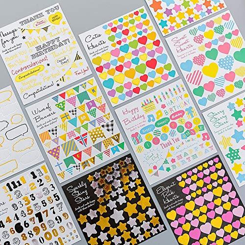 YRBB 45 stuks/karton creatief album papier etiket stickers knutselen en scrapbooking decoratieve levenslogboek sticker leuk briefpapier