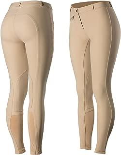 Horze Women's Microfiber Self Knee Patch Riding Breeches