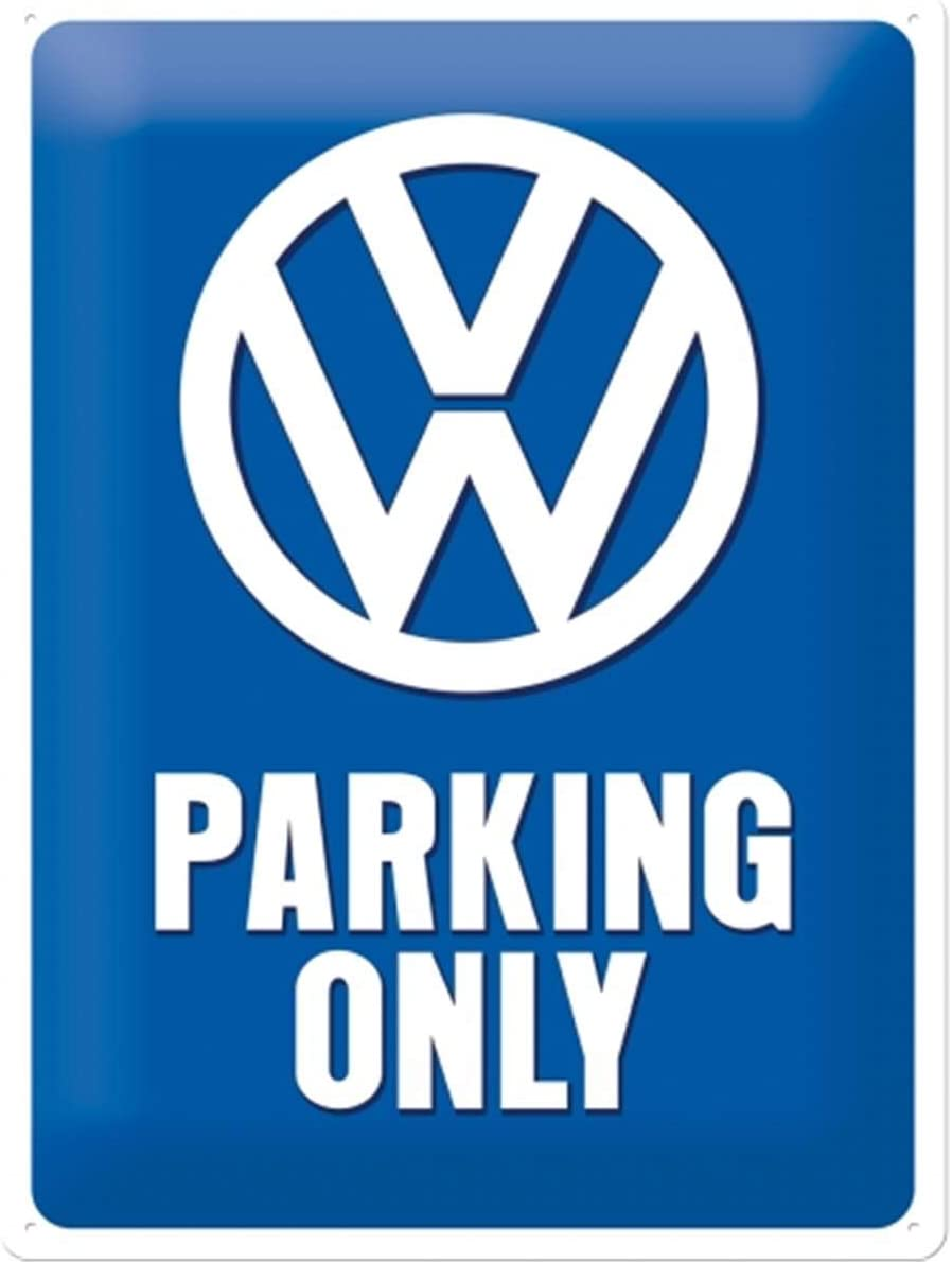 Nostalgic-Art Retro Tin Sign Fashion Volkswagen – VW Only Max 59% OFF Parking