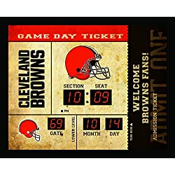 Team Sports America Cleveland Browns Bluetooth Scoreboard Wall Clock