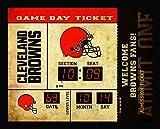 Team Sports America Cleveland Browns Bluetooth Scoreboard Wall Clock