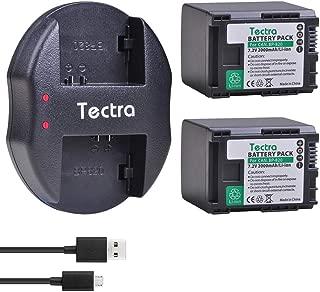 Tectra 2X BP-820 Batteries and Dual USB Charger for Canon VIXIA GX10, HFG20, HF G21, HFG30, HFG40, HFM30, HFM31, HFM32, HFM300, HFS200, XA10, XA11, XA15, XA20