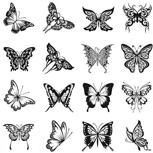 Stickers hommes et des tatouages temporaires Femmes Waterproof Papillon-A391