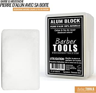 ✮ Barber Tools ✮ Piedra de alumbre 100% natural - 100 gr