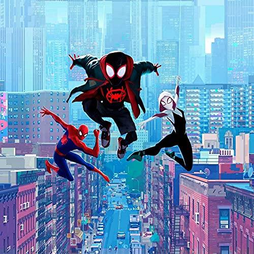 GUANGMANG Jigsaw Puzzle 1000 Pieces Carteles De Películas Póster De Spider-Man Into The Spider-Verse Rompecabezas,Rompecabezas para Suelo, Niños Y Adultos,75X50Cm