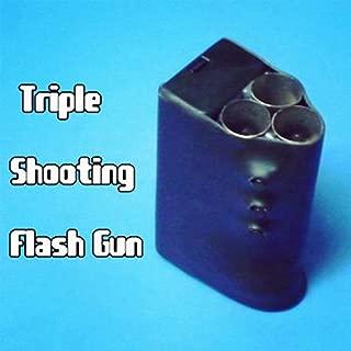 Fire Magic Tricks Triple Flash Gun +(1 Paper Refill and 1 Pack Cotton Refill