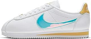 Nike WMNS Classic Cortez Womens Ci9914-100 Size 9, White/Clear-topaz Gold