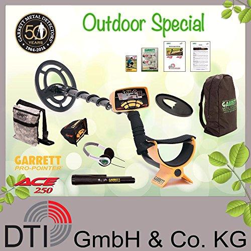 Garrett ACE 250 Metalldetektor Outdoorpack Pro Pointer