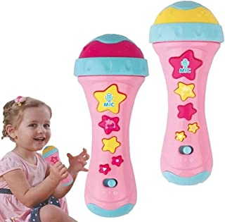 HANMUN Toddler Microphone Kids Music Toys for 4 Year Old Girl Karaoke Microphone Toys 2019 Toddler Singing Karaoke Microphone (Recording, Transform Acoustic, Songs and Lighting)