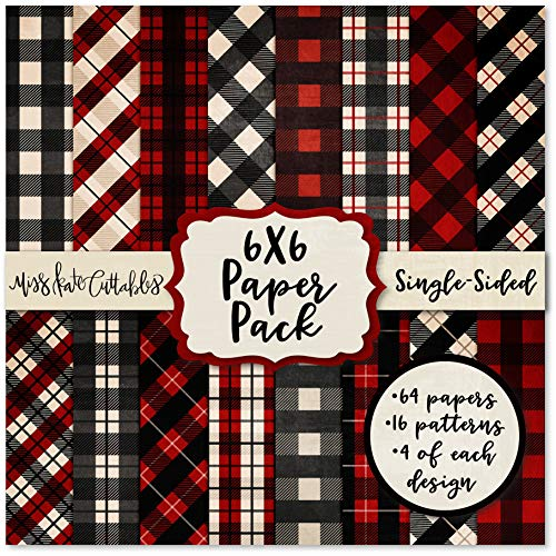 6X6 Pattern Paper Pack - Red & Black Buffalo Check