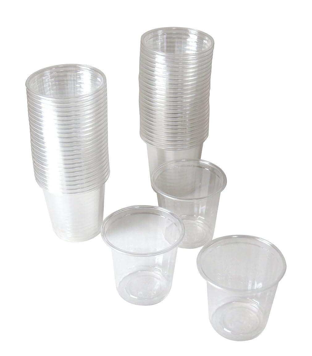 電話に出るチャーター大工ストリックスデザイン 試飲用 プラスチックカップ 透明 60ml DR-515 50個入